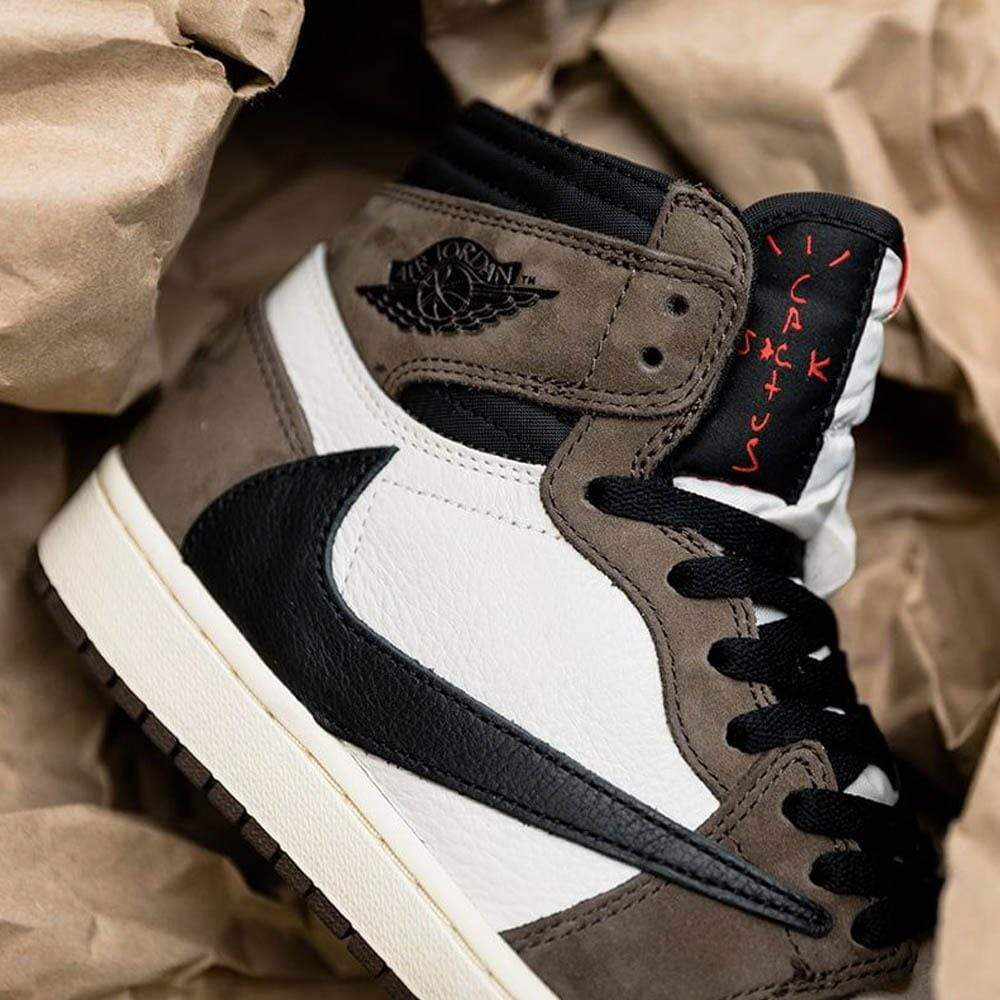 Travis Scott x Jordan 1 Backwards Swoosh Mocha