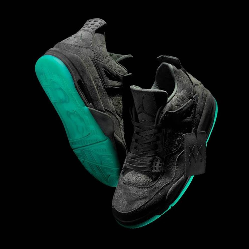 buy online 3f3af ae4ec KAWS x Air Jordan 4 Retro Black