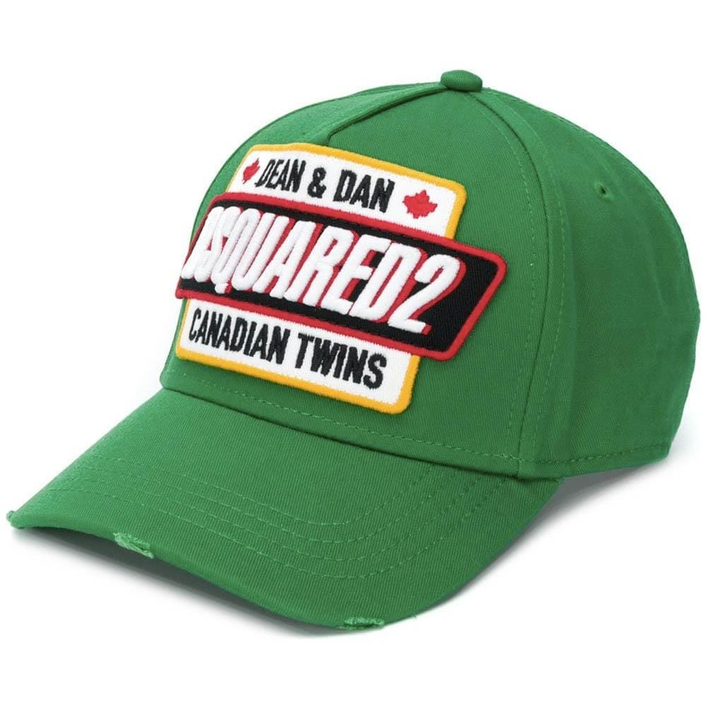 DSQUARED2 Logo Patch Cap Green - Kick Game