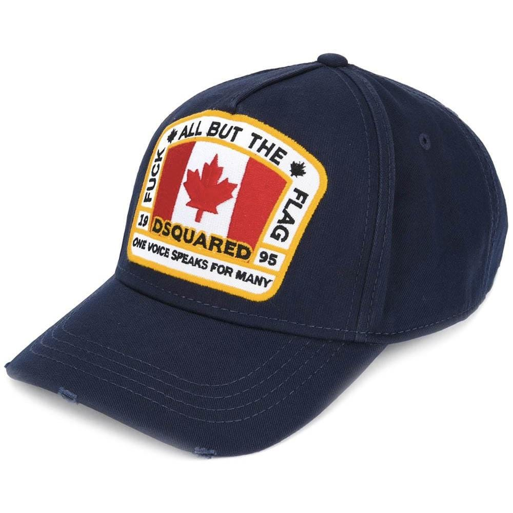 119c969cd DSQUARED2 Canadian Patch Baseball Cap Navy
