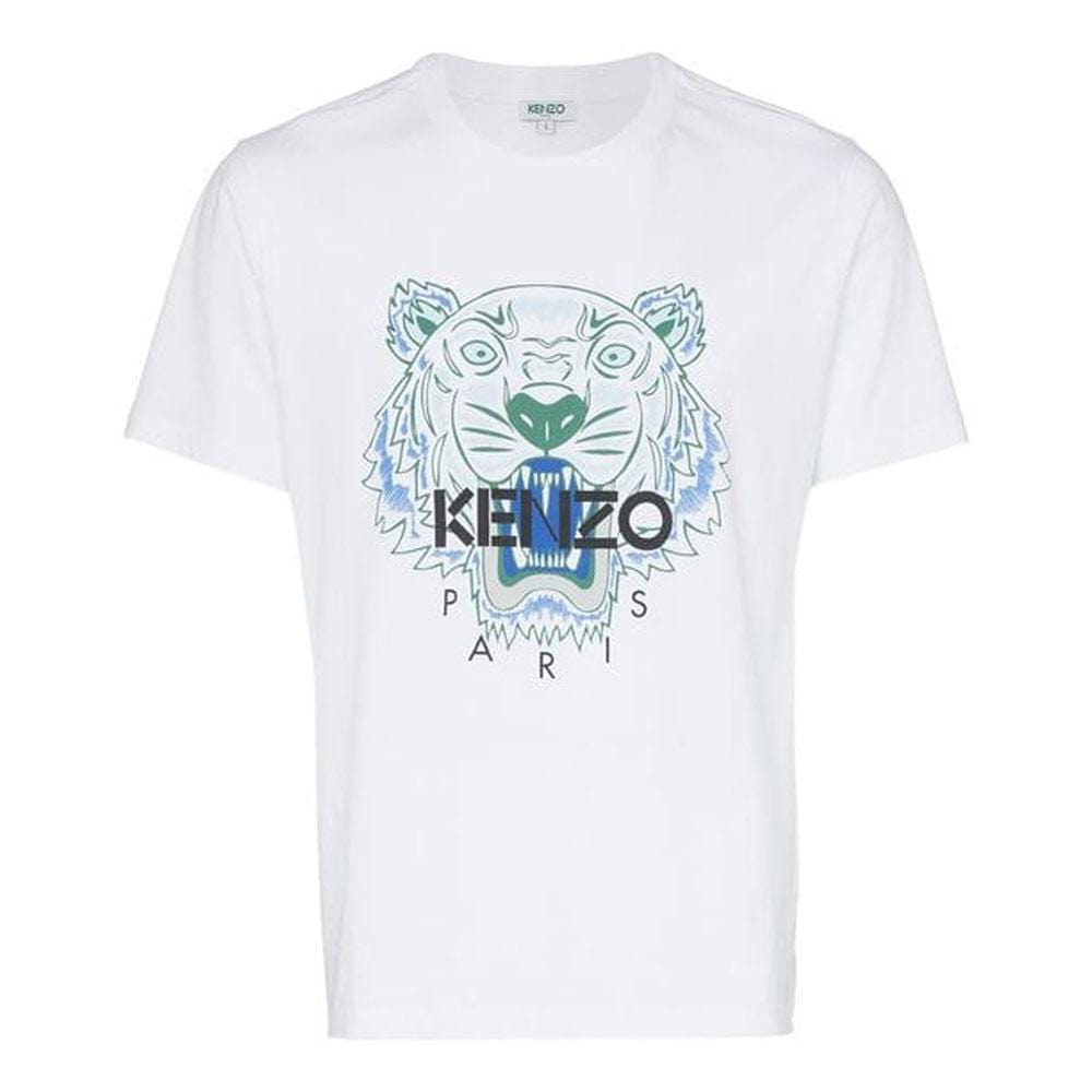 Kenzo Cotton Tiger Logo T-Shirt White - Kick Game