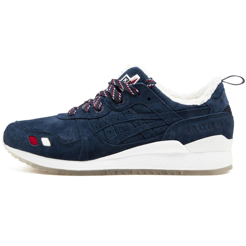 detailed look c7f95 341c3 Kith x Moncler x Asics Gel Lyte 3 'Navy'
