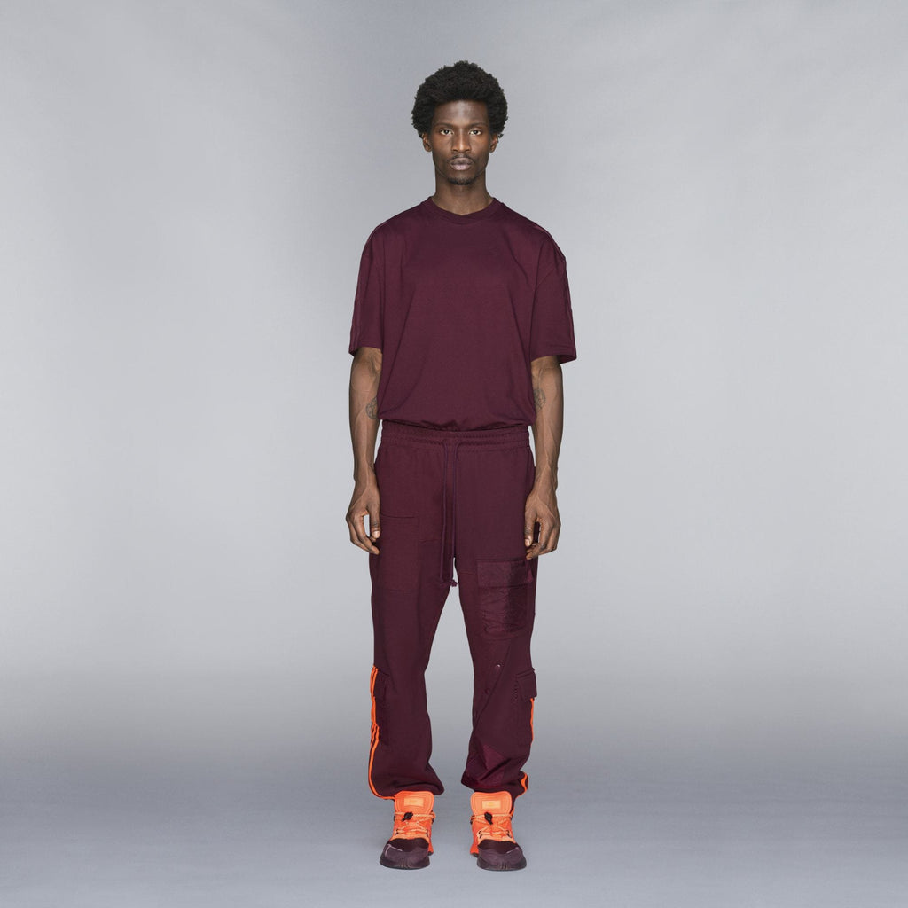 adidas Ivy Park Cargo Sweatpants Maroon/Solar Orange - Kick Game