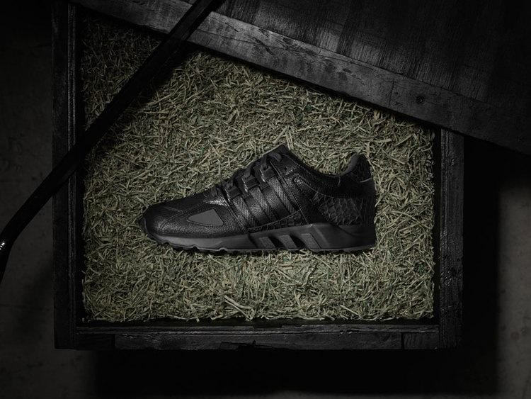 "ADIDAS X PUSHA T EQT RUNNING GUIDANCE ""BLACK MARKET"" - Kick Game"