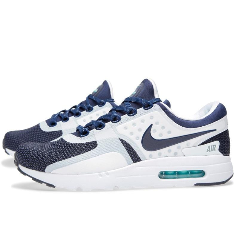 design intemporel 8a047 63fa9 NIKE AIR MAX ZERO QS White & Mid Navy