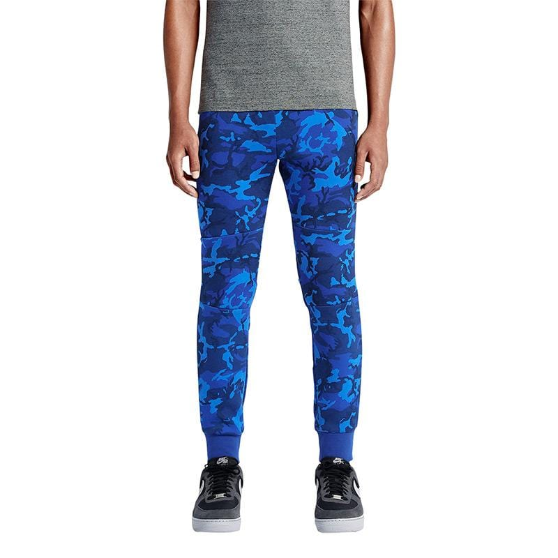 NIKE TECH FLEECE CAMO MEN'S TROUSERS - Deep Royal Blue - Kick Game