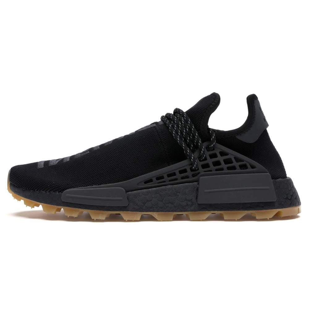 Pharrell Williams Hu NMD Shoes Core Black Utility Black