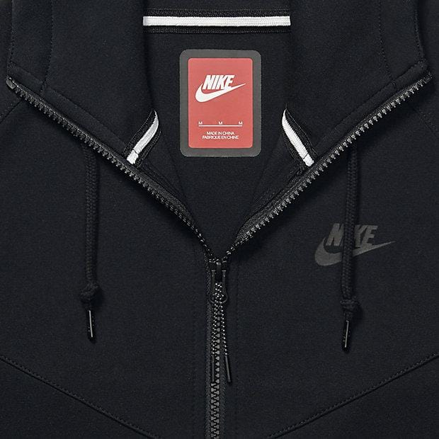 NIKE TECH FLEECE WINDRUNNER MEN'S HOODIE - Black - Kick Game