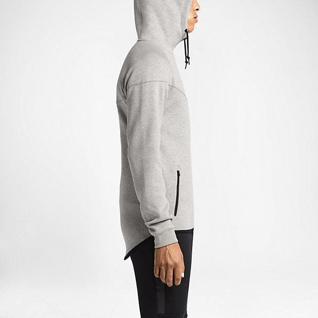 NIKE TECH FLEECE WINDRUNNER MEN'S HOODIE - Medium Grey-Black