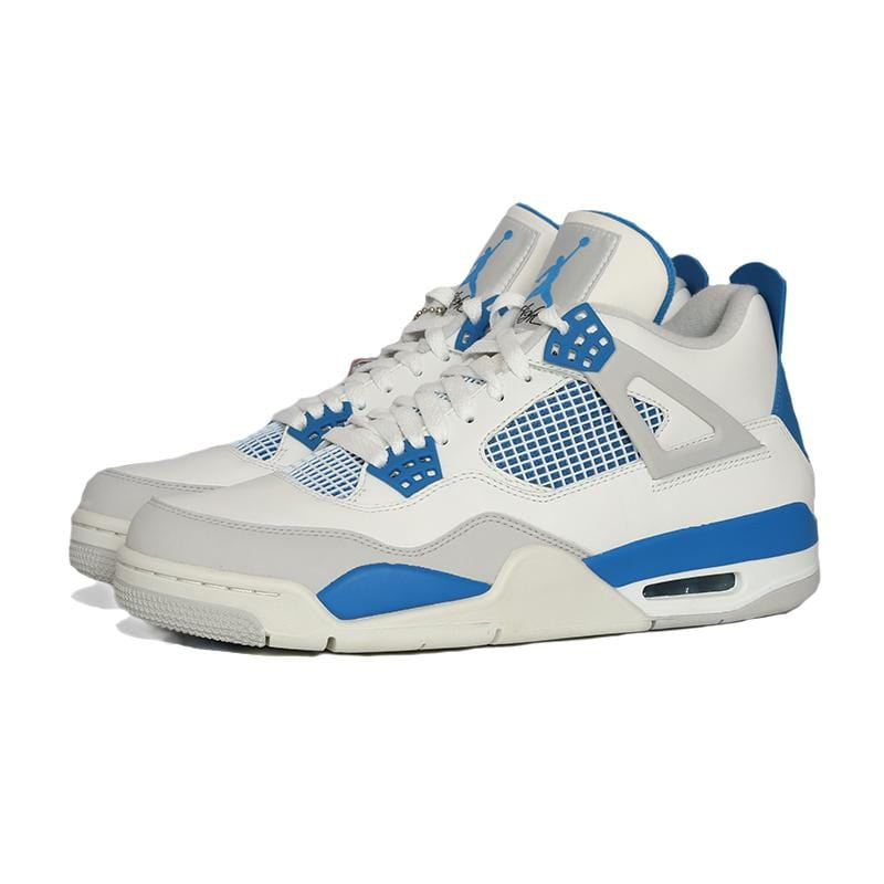 check out be4ea b557a Air Jordan 4 Retro White & Military Blue