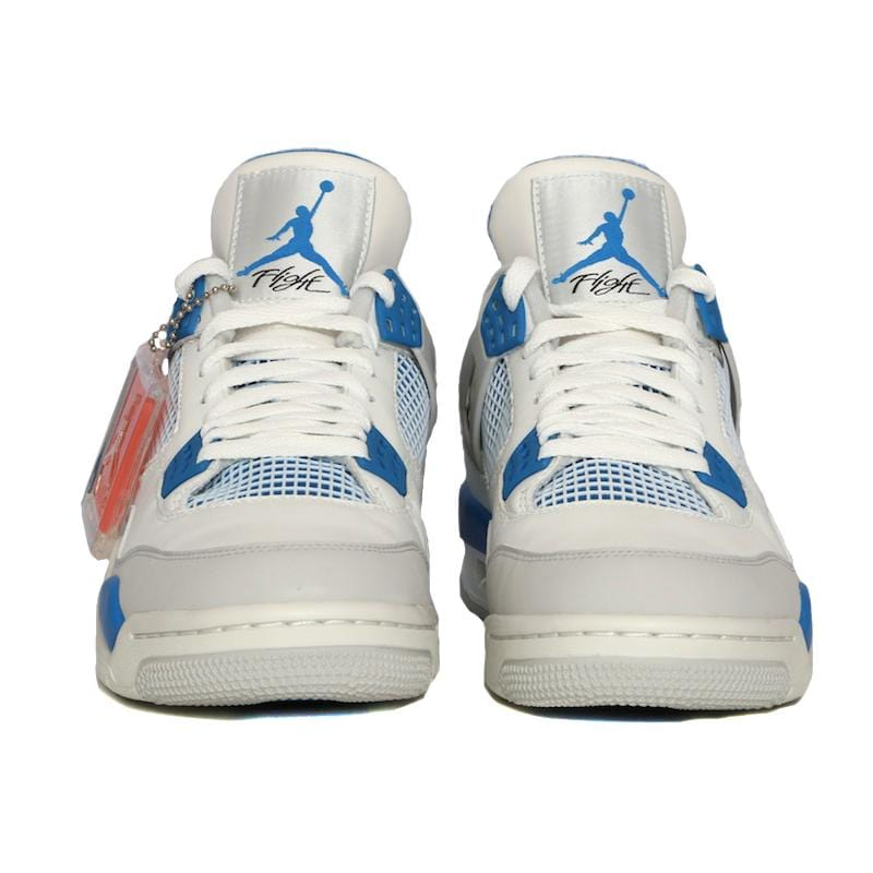 Air Jordan 4 Retro White & Military Blue - Kick Game