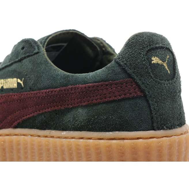 PUMA x Rihanna Suede Creepers Bordeaux Green - Kick Game