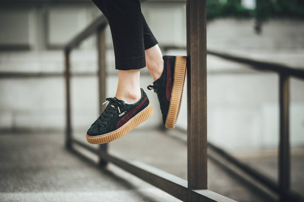 info for cde56 ff9d9 PUMA x Rihanna Suede Creepers Bordeaux Green – Kick Game