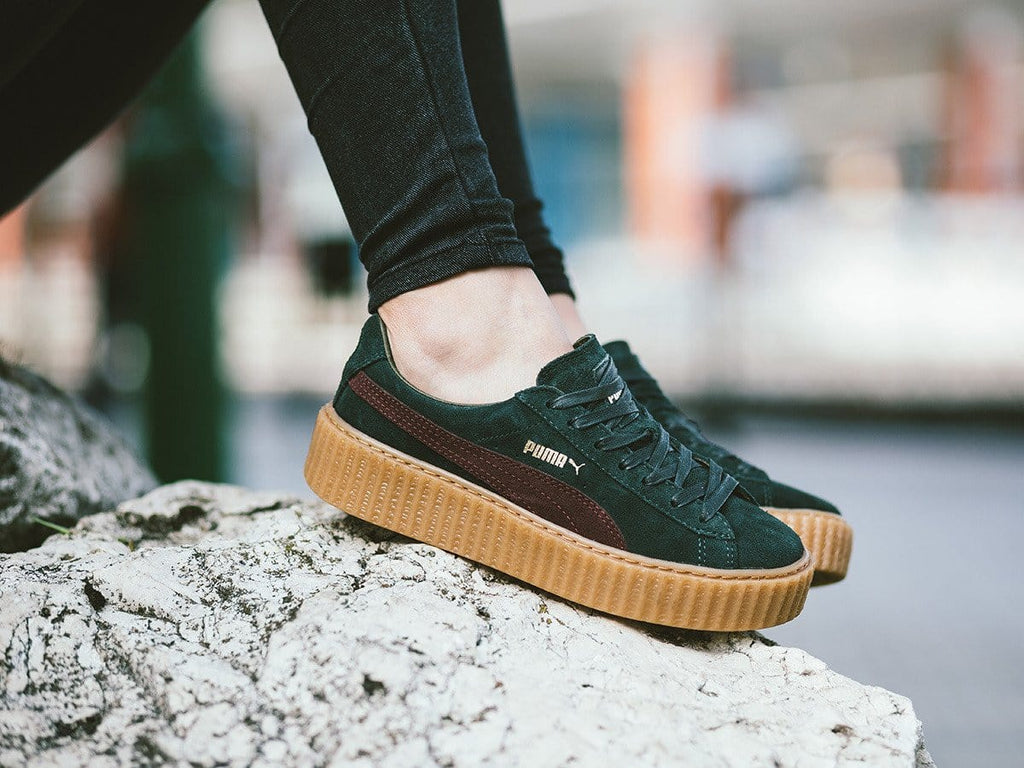 info for 3eb94 e271f PUMA x Rihanna Suede Creepers Bordeaux Green – Kick Game