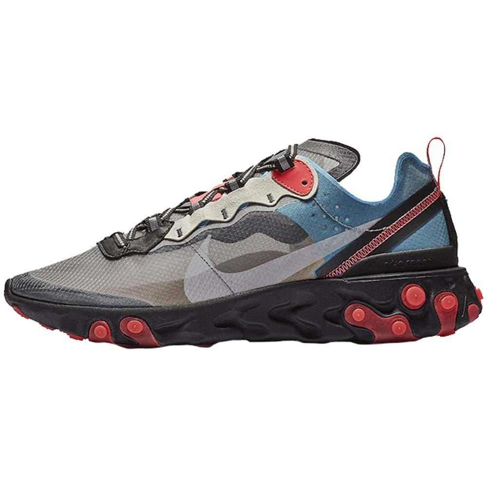 Nike React Element 87 Grey Blue Red - Kick Game