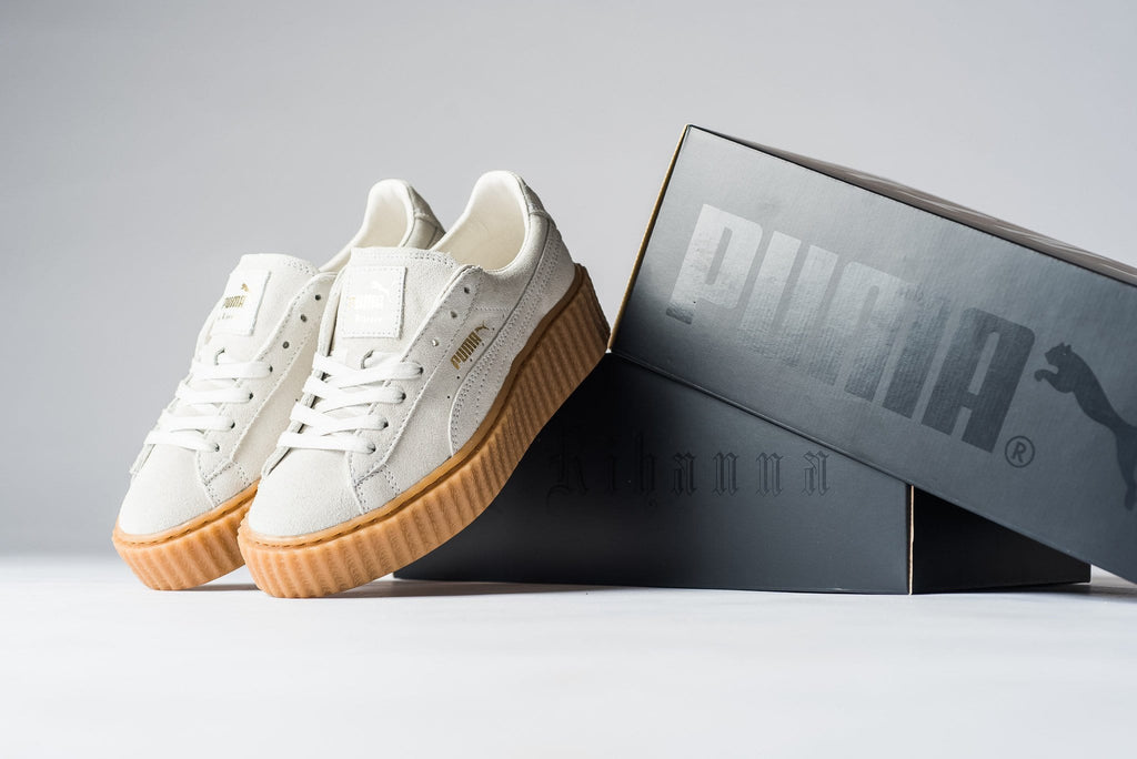 Fenty x Wmns Suede Creepers 'Star White' - Kick Game