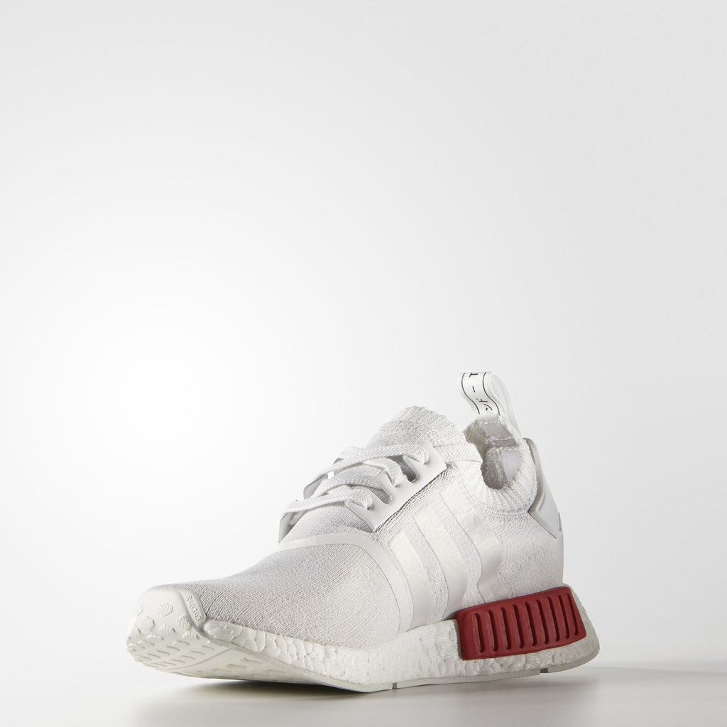 Adidas NMD_R1 Primeknit Vintage White-Lush Red - Kick Game