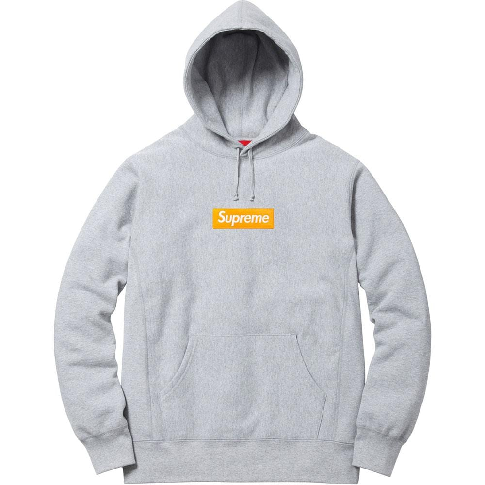 Supreme Box Logo Hooded Sweatshirt (FW17) Heather Grey - Kick Game