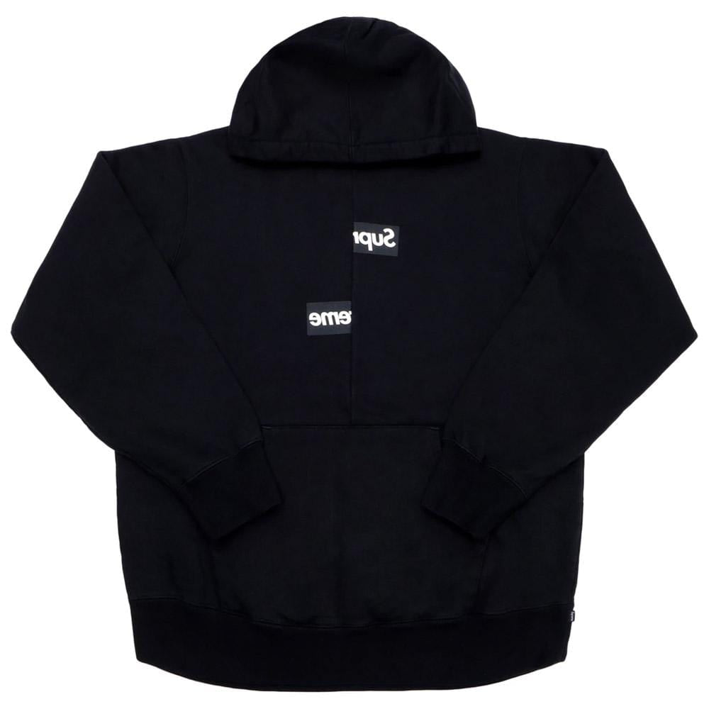 Supreme Comme des Garcons SHIRT Split Box Logo Hooded Sweatshirt Black - Kick Game