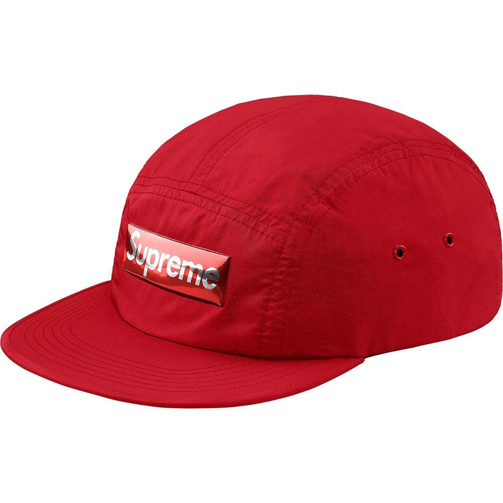 Supreme Liquid Metal Logo Camp Cap - Red - Kick Game