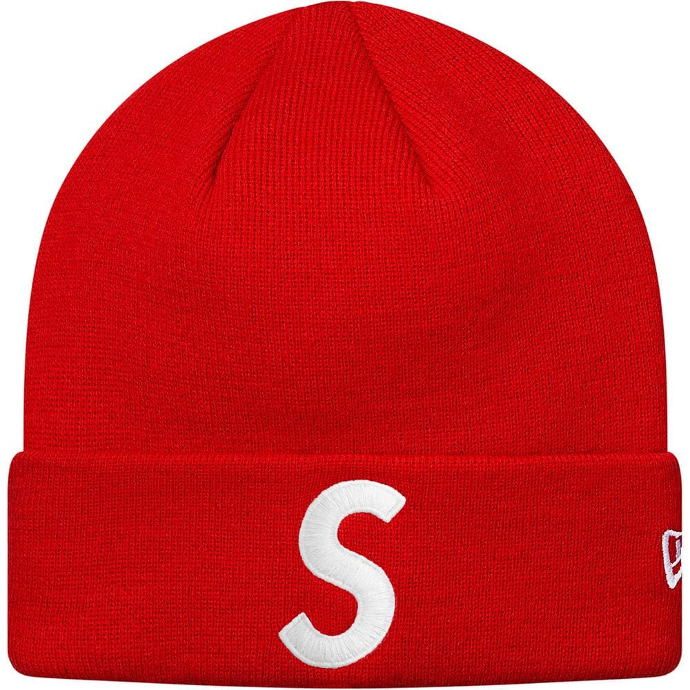 Supreme New Era S Logo Beanie Red - Kick Game