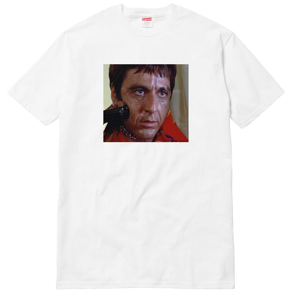 Supreme Scarface Shower Tee - White - Kick Game