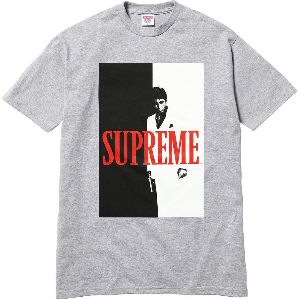 Supreme Scarface Split Tee - Heather Grey - Kick Game