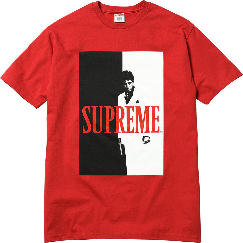 Supreme Scarface Split Tee - Red