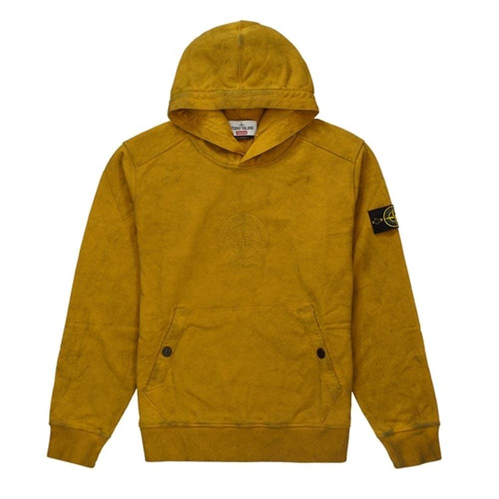 official photos 231c7 e2ff6 Supreme Stone Island Hooded Sweatshirt (SS19) Olive