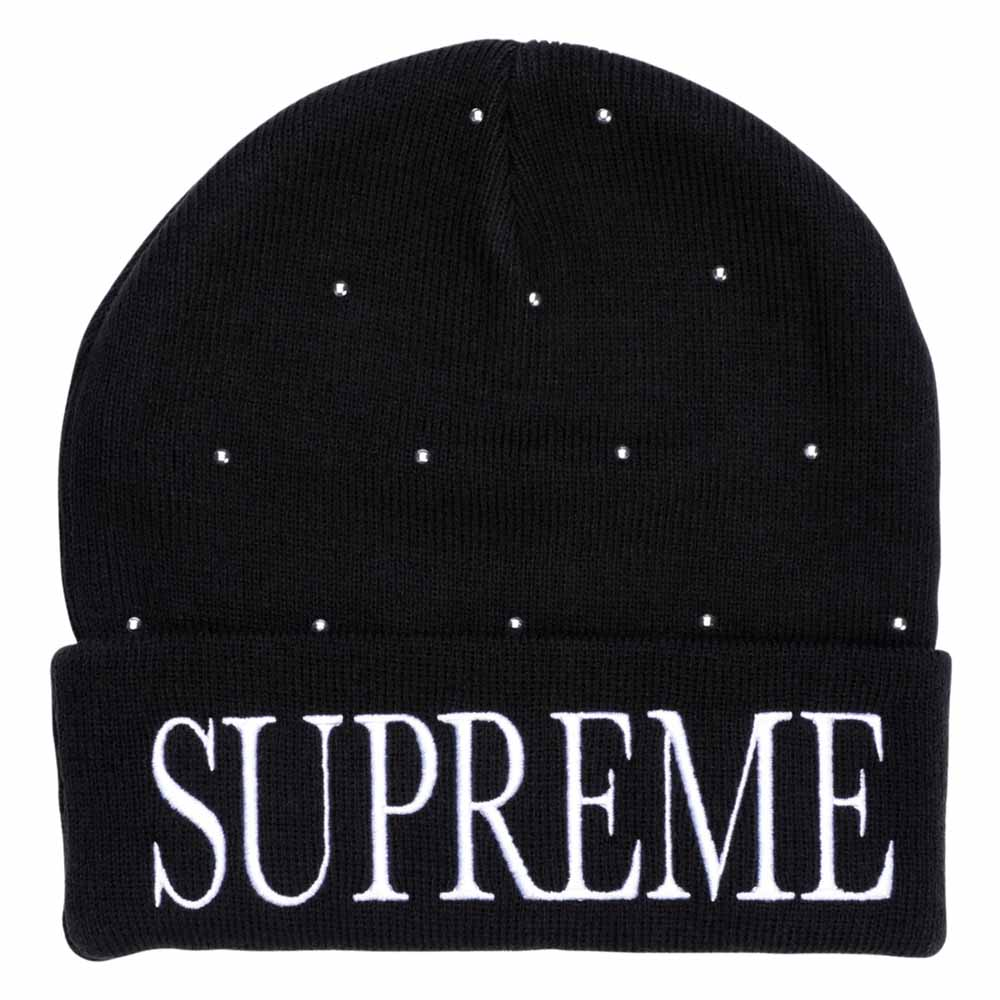Supreme Studded Beanie Black - Kick Game