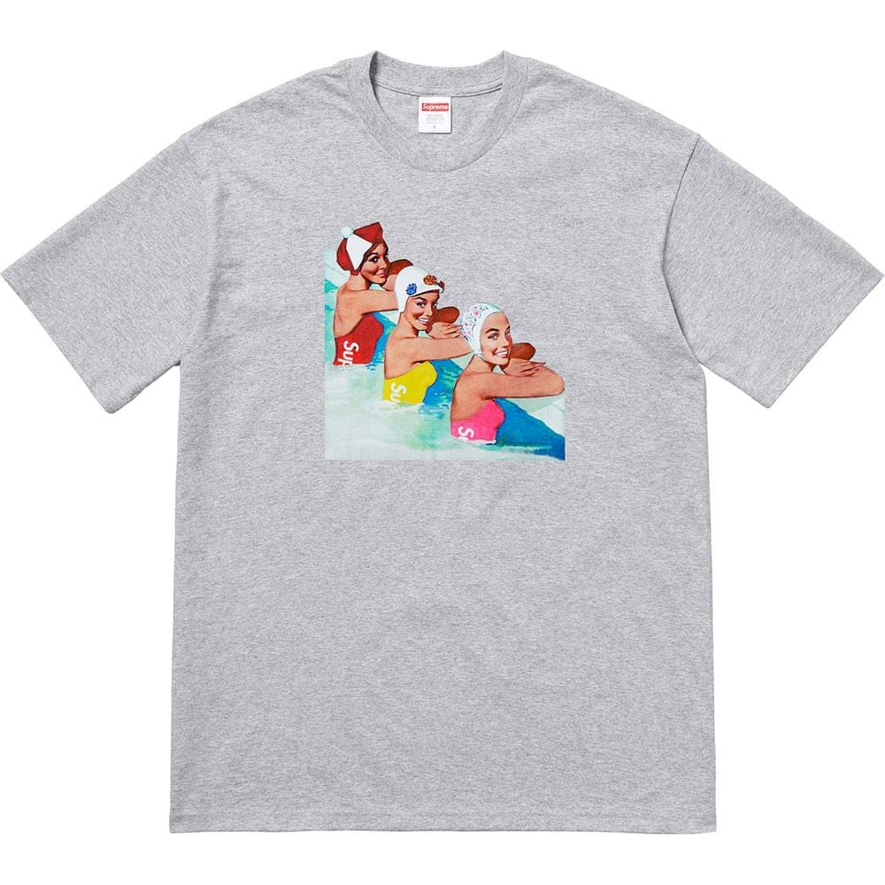 Supreme Swimmers Tee Heather Grey - Kick Game