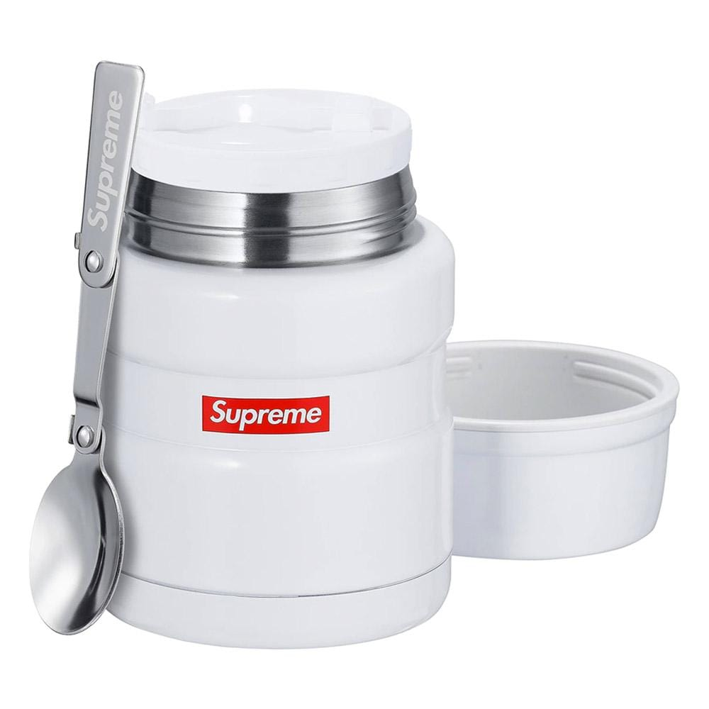 Supreme Thermos Stainless King Food Jar and Spoon White - Kick Game