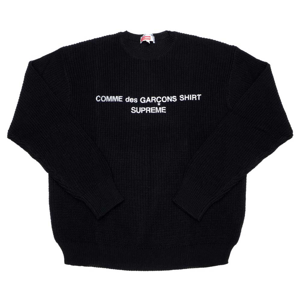 Supreme Comme des Garcons SHIRT Sweater Black - Kick Game