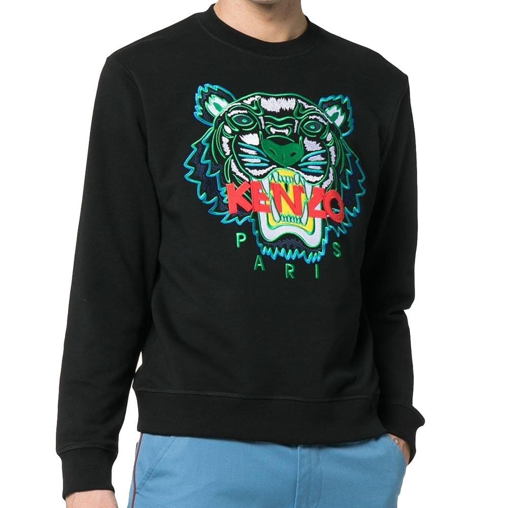 Kenzo Tiger Applique Sweatshirt Black