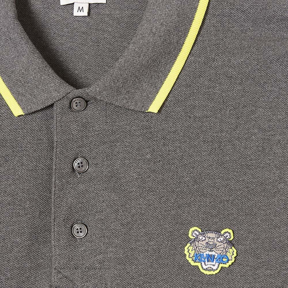 "Kenzo Slim Fit Tiger Polo Shirt ""Dark Grey"" - Kick Game"
