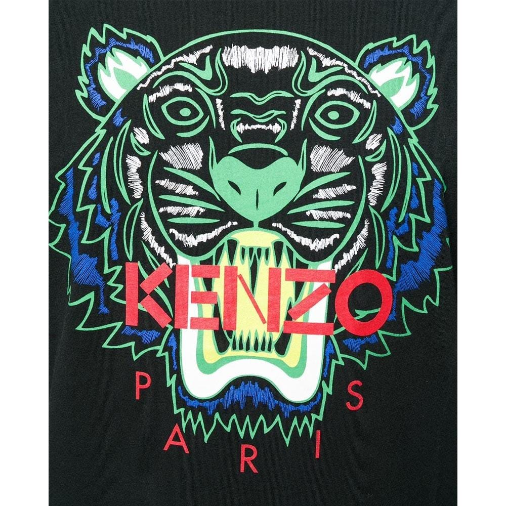 Kenzo Tiger Print T-Shirt Black - Kick Game