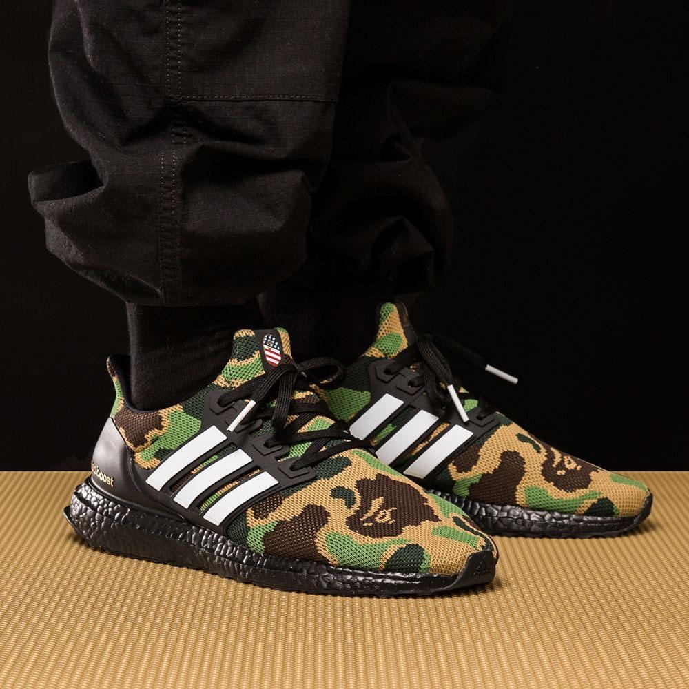 super popular 942aa 8ae8e BAPE x adidas Ultra Boost Green Camo