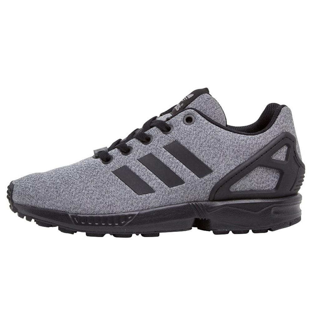 big sale fa92a 26e5a adidas Originals Boys ZX Flux Trainers Black-Black-Grey