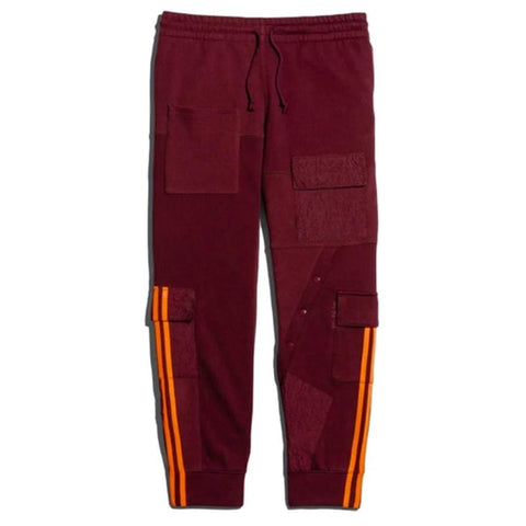 adidas Ivy Park Cargo Sweatpants Maroon/Solar Orange