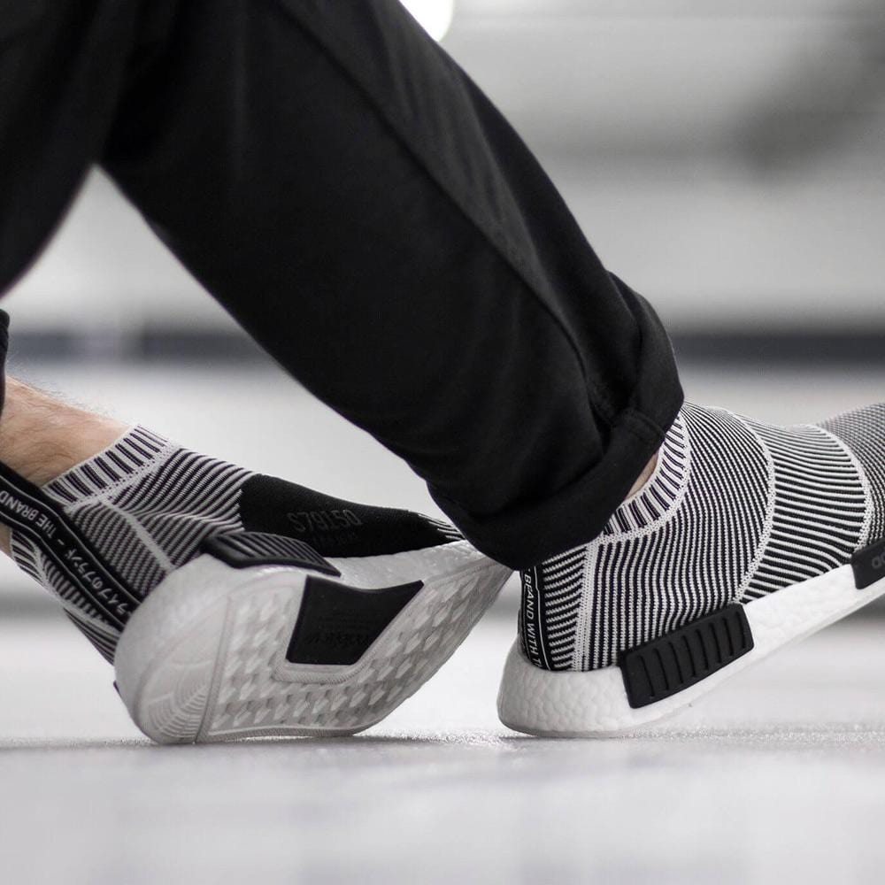 best service 5f4a6 9e48c ADIDAS NMD CITY SOCK PRIMEKNIT Core Black & Vintage White ...