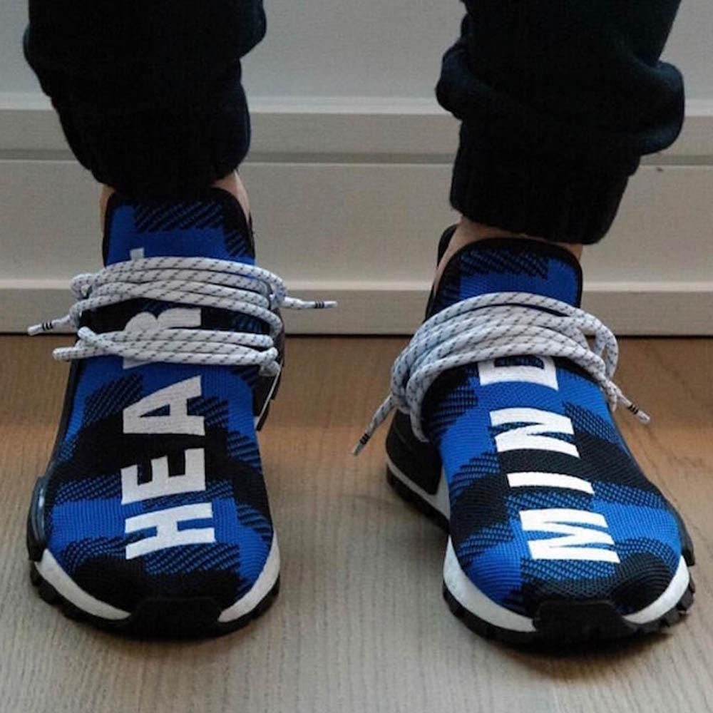 BBC x adidas NMD Hu Pharrell Blue Plaid