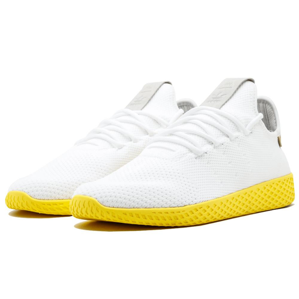 Pharrell Williams x adidas Originals Tennis HU White-Yellow - Kick Game