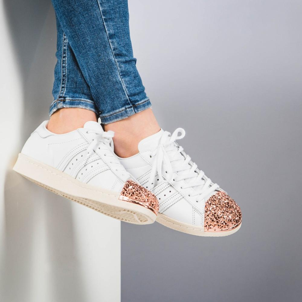 online store 94dd2 94c9a adidas Originals Superstar 80s 3D Metal Toe W (white - bronze)
