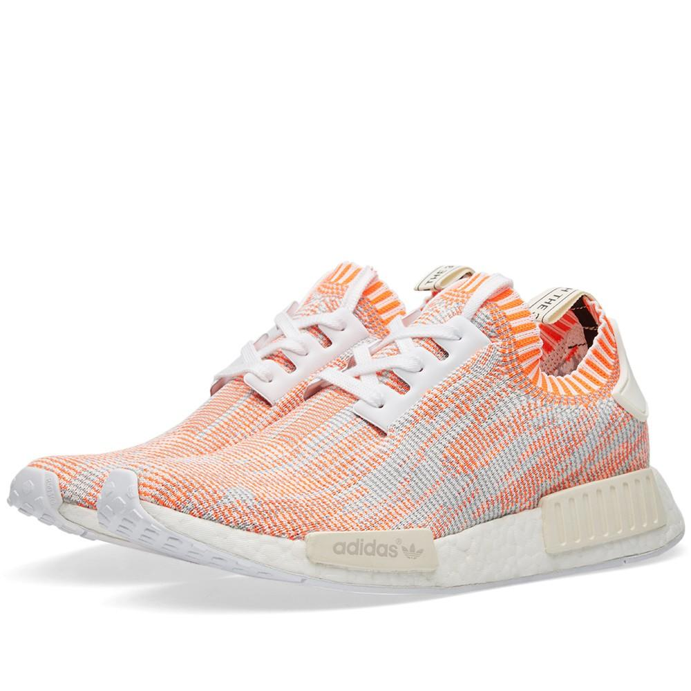Adidas NMD_R1 Primeknit Camo Pack  Solar Red - Kick Game
