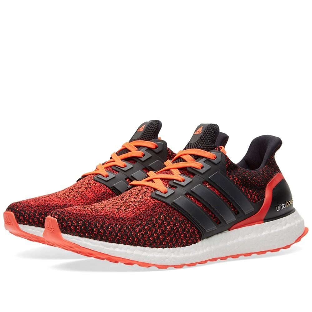 ADIDAS ULTRA BOOST M Core Black & Solar Red - Kick Game