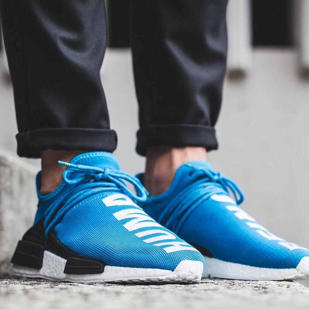 crazy price factory outlet top quality PHARRELL WILLIAMS X ADIDAS HU HUMAN RACE NMD - BLUE
