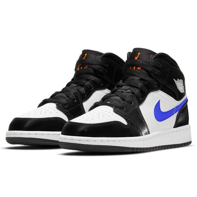 Air Jordan 1 Mid GS 'Black Racer Blue' - Kick Game