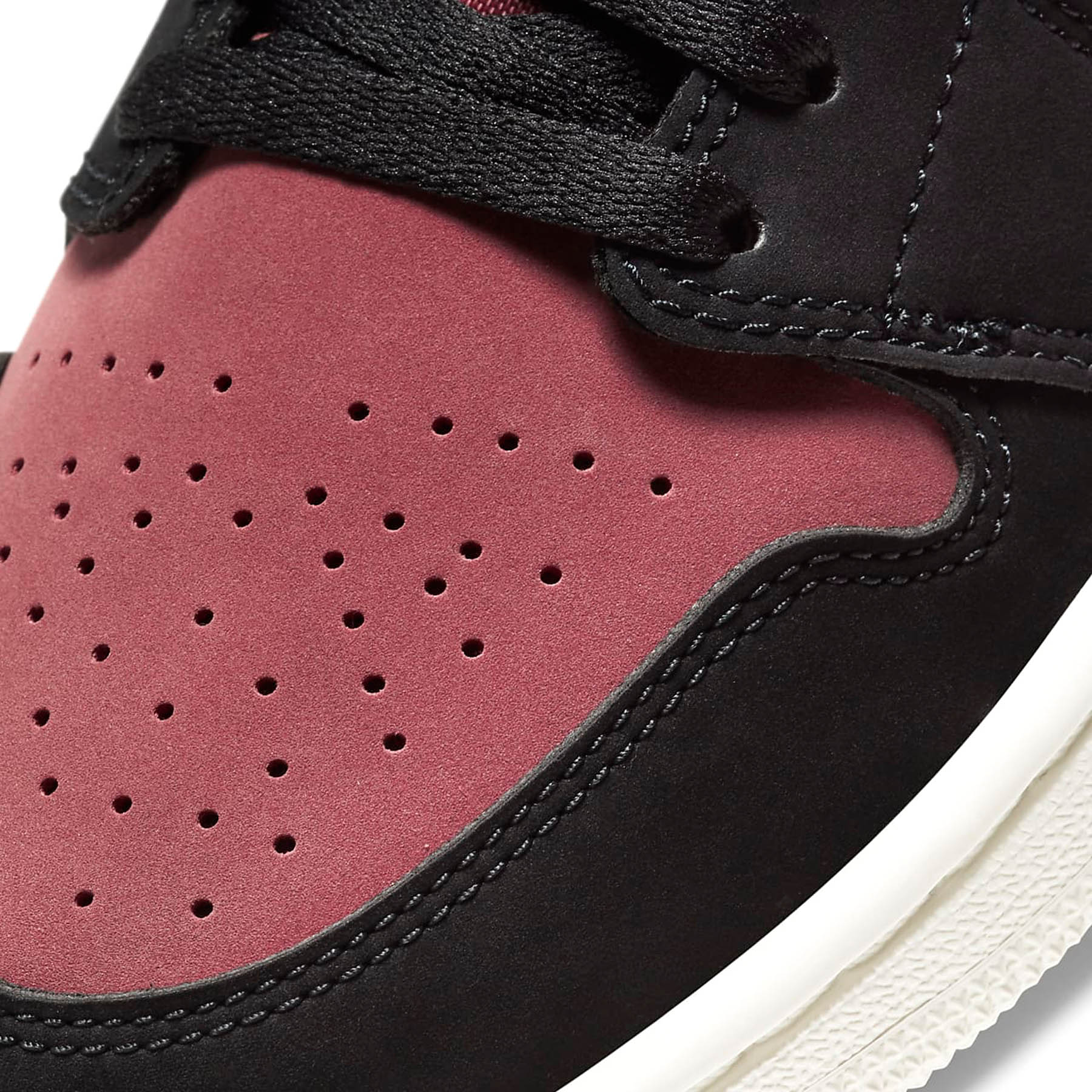Air Jordan 1 Wmns Mid 'Burgundy Dusty Pink' - Kick Game