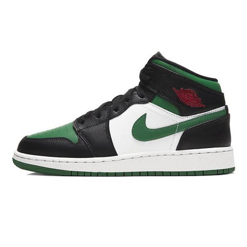 Air Jordan 1 Mid GS 'Black Pine Green' - Kick Game