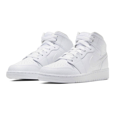 Air Jordan 1 Mid GS 'Triple White' - Kick Game